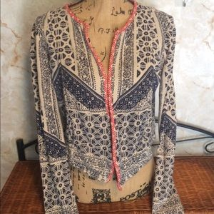 Lucky Lotus Cropped light Jacket
